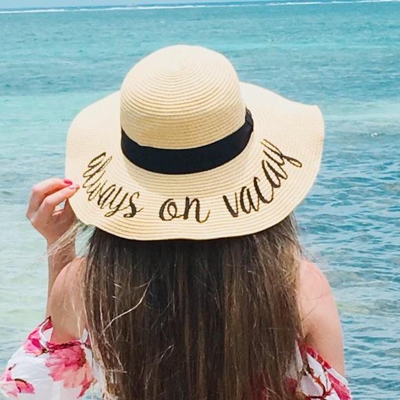 Floppy sun hat beach hat sun hat always on vacay. NWT 3e6ef189d937